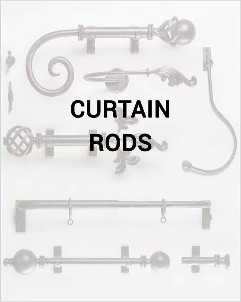 Curton rods - handcrafted wrought iron