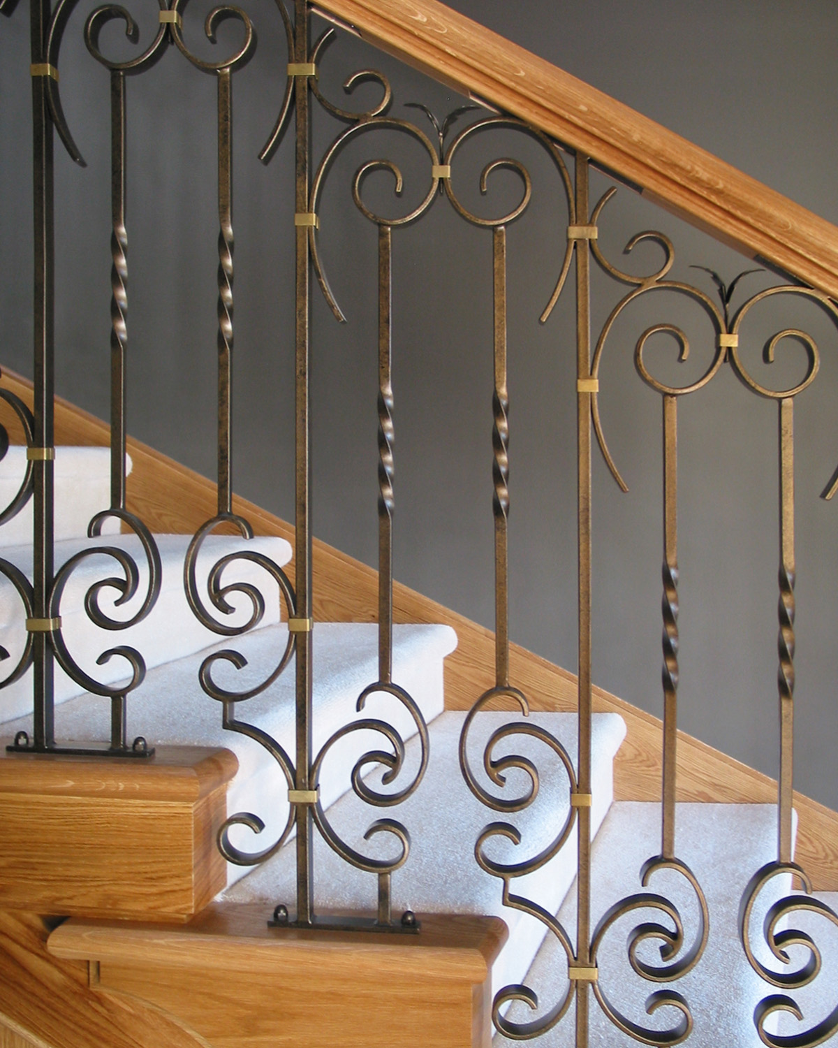 Handcrafted wrought iron balustrade