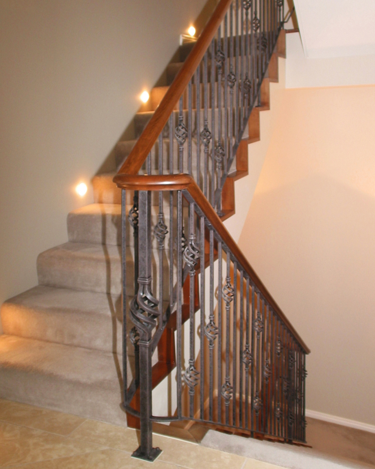 Wrought iron balustrades - Basket Twist Balustrade