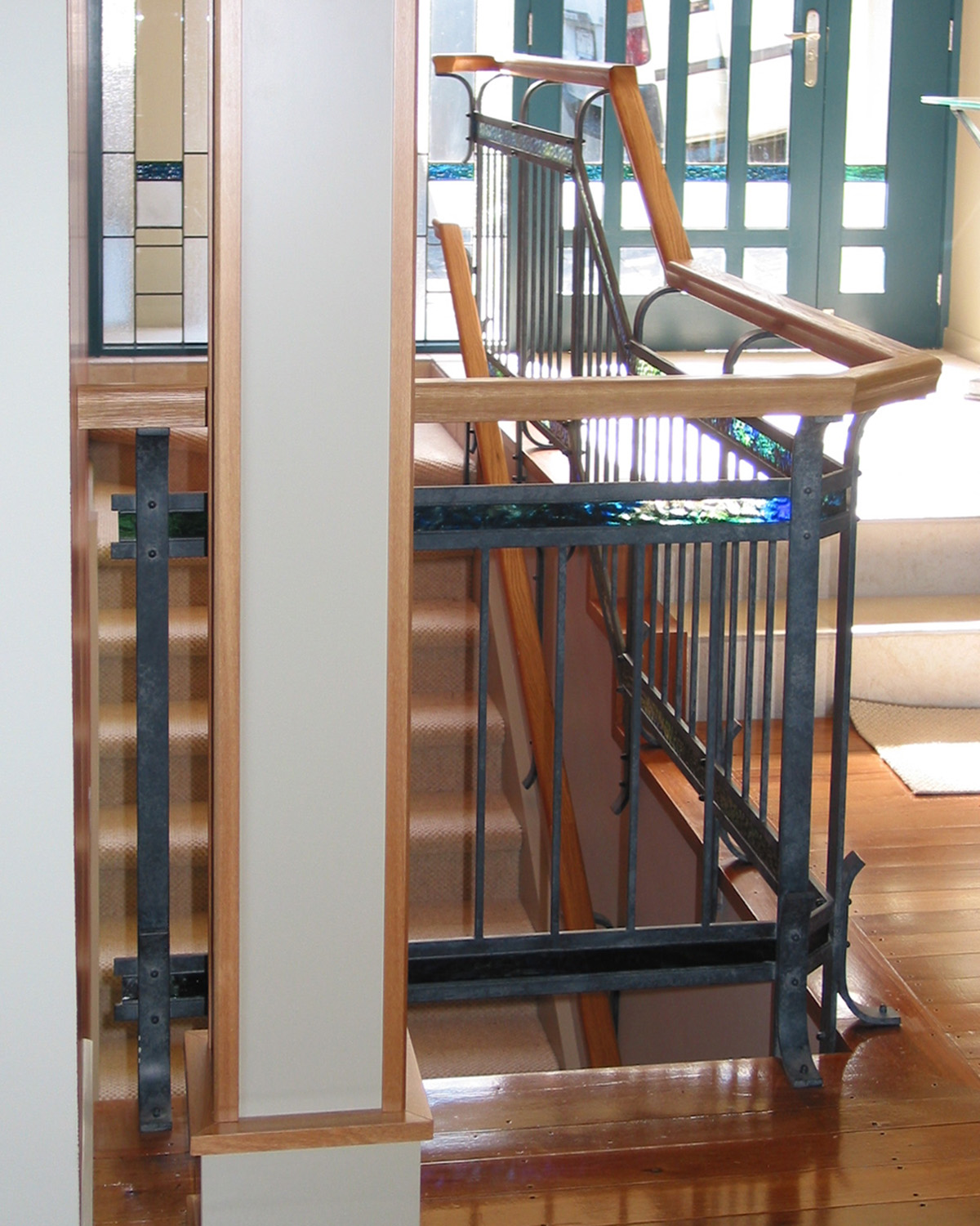 Hand-crafted Coloured Glass Balustrades